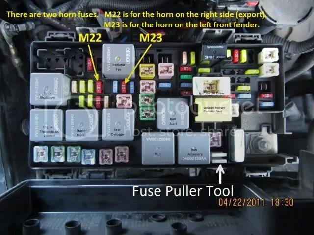 HornFuses_zpshwcaf9pg?resize=640%2C480 2008 jeep wrangler horn wiring diagram wiring diagram 2008 jeep wrangler horn wiring diagram at webbmarketing.co