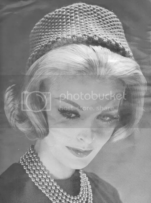 Knitting Pattern Vintage Hat : Vintage Knitting Patterns from 1960: Pillbox Hat and ...