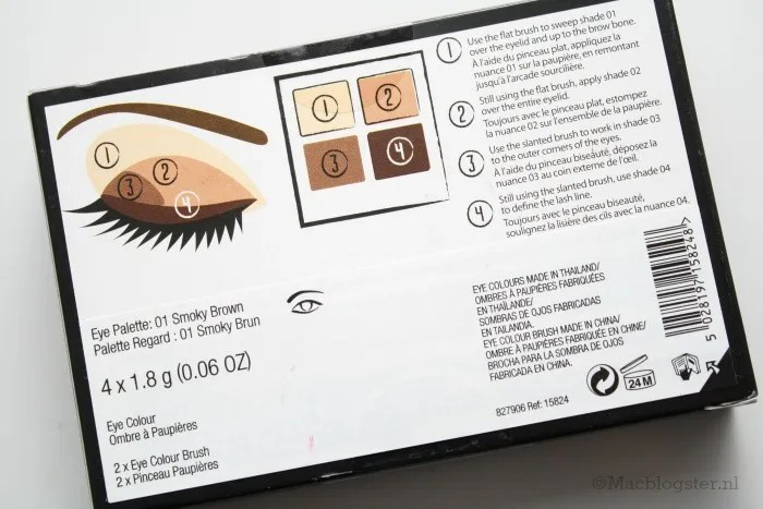 The Body Shop 4-Step Smokey Eyes palette: Smokey Brown photo achterkantTheBodyShop4-StepSmokeyEyespalette_zps3c427a72.jpg