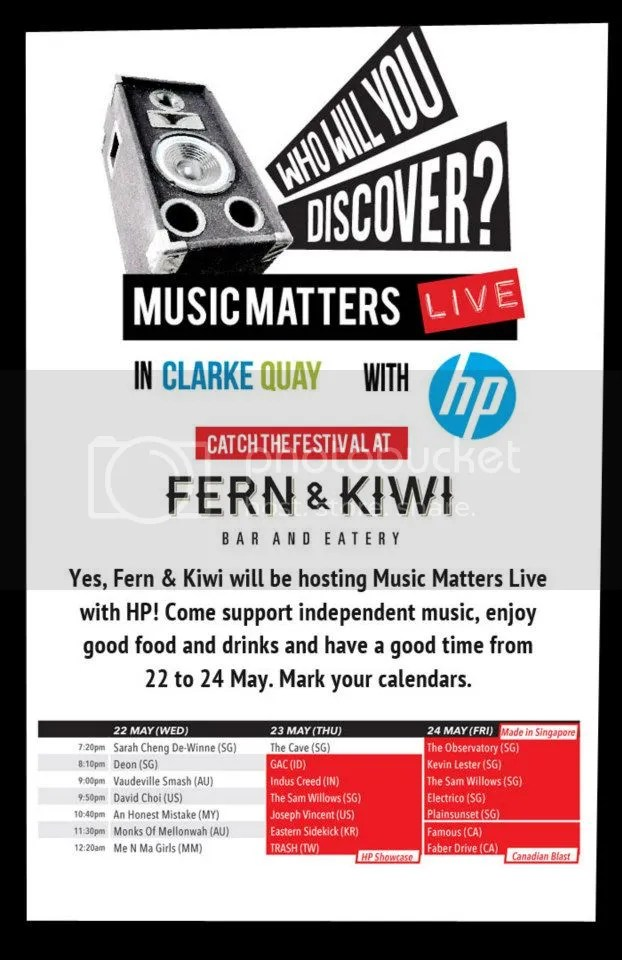 music matters live with HP, clarke quay, Singapore, music festival