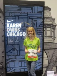 Me at the Nike booth at the expo for the Chicago Marathon