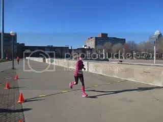 Me crossing the finish line of the Chocolate 5K - Louisville, Kentucky