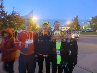 BlueMile representing at the Big Hit Half Marathon!!  We were a cold bunch ready to run!