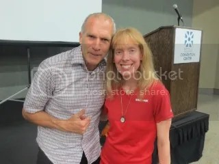 Bart Yasso and me at the Buffalo Marathon Expo - Buffalo, New York