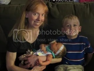 Me, holding my niece Baileigh Kendyl, and with my nephew Chace Tanner