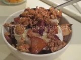 Caramelized Apple and Greek Yogurt Breakfast Parfait with Love Grown Oats Apple Walnut Delight Oat Clusters
