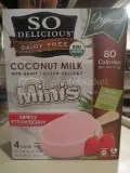 So Delicious Dairy Free Minis Organic Super Strawberry Bars