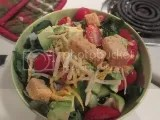Gillian's Gluten-Free Garlic Croutons atop a delicious salad