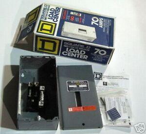 Square D 70 Amp Load Center Circuit Breaker Box | eBay