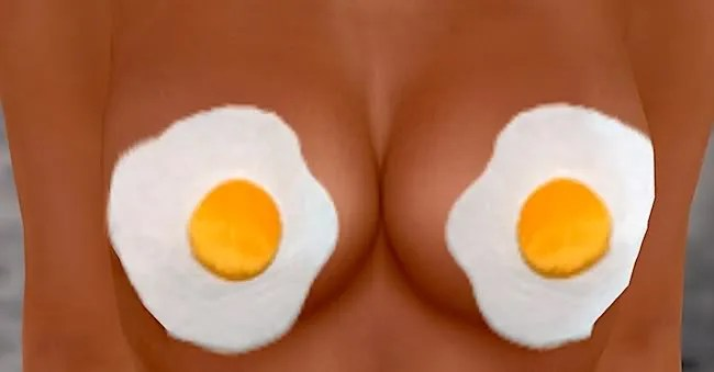 Image result for fried egg boobs