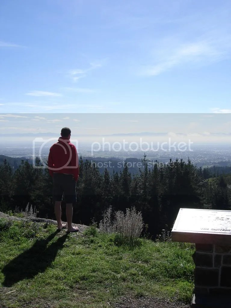 Jeremy looking out at Christchurch and the Canterbury Plains