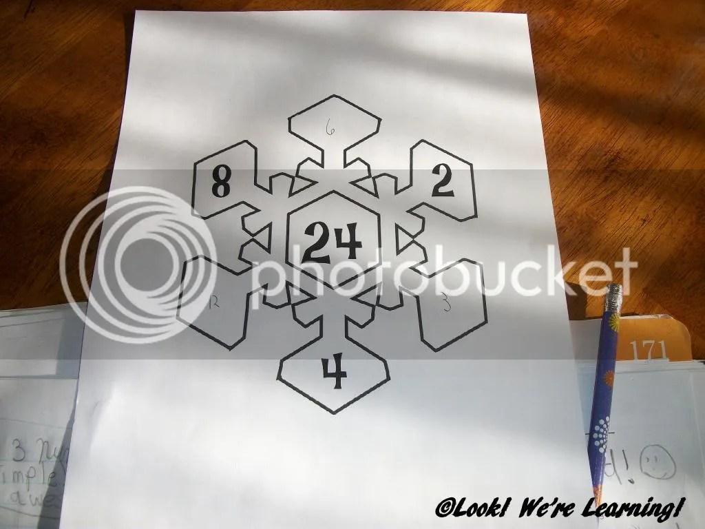 Free Snowflake Math Factors Printable Activity