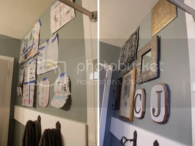 Metallic Themed Eclectic Gallery Wall