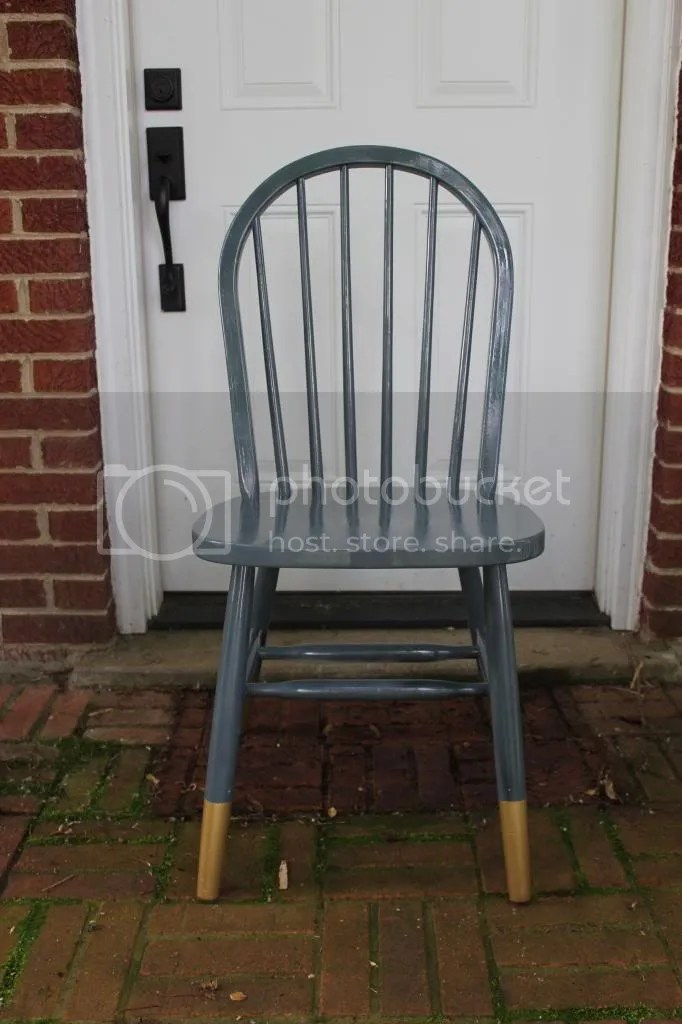 Gold-dipped dining chair tutorial