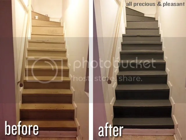 basement stair paint - muted ebony by valspar