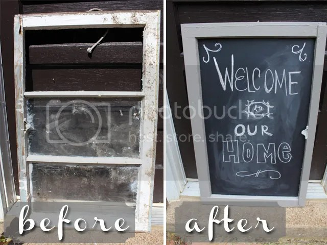 windowpane to chalkboard before and after