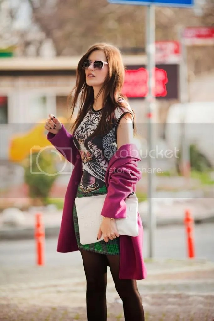 photo viktoriya sener fashion blogger from turkey wearing purple romwe coat printed mini dress freyrs pink sunglasses asos brogues_zps8ox4pxmk.jpg