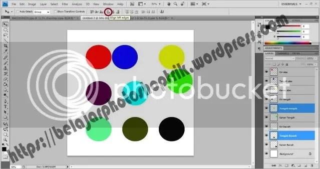 Belajar Photoshop Menggunakan Align and Distribute Option