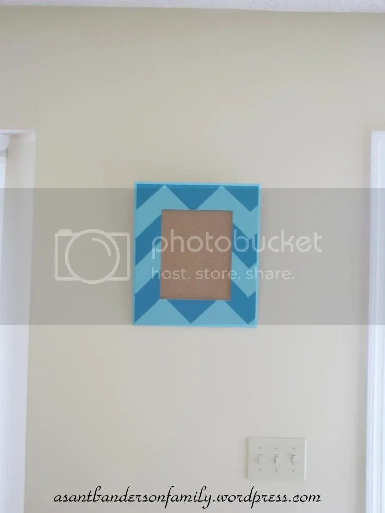 Chevron Painted Frame