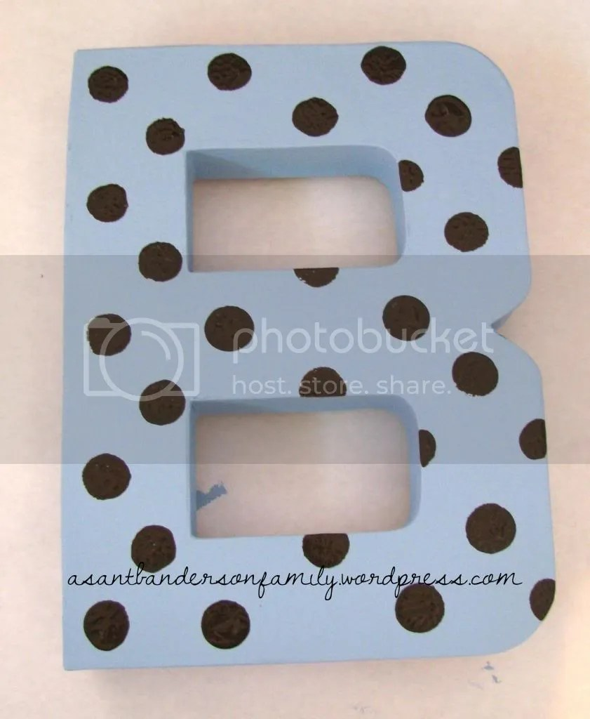 Paper Mache B Chocolate Polka Dots