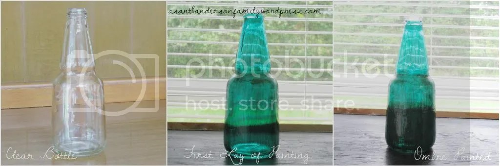 Ombre Painted Bottle Lamp