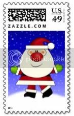 Matching Santa postage
