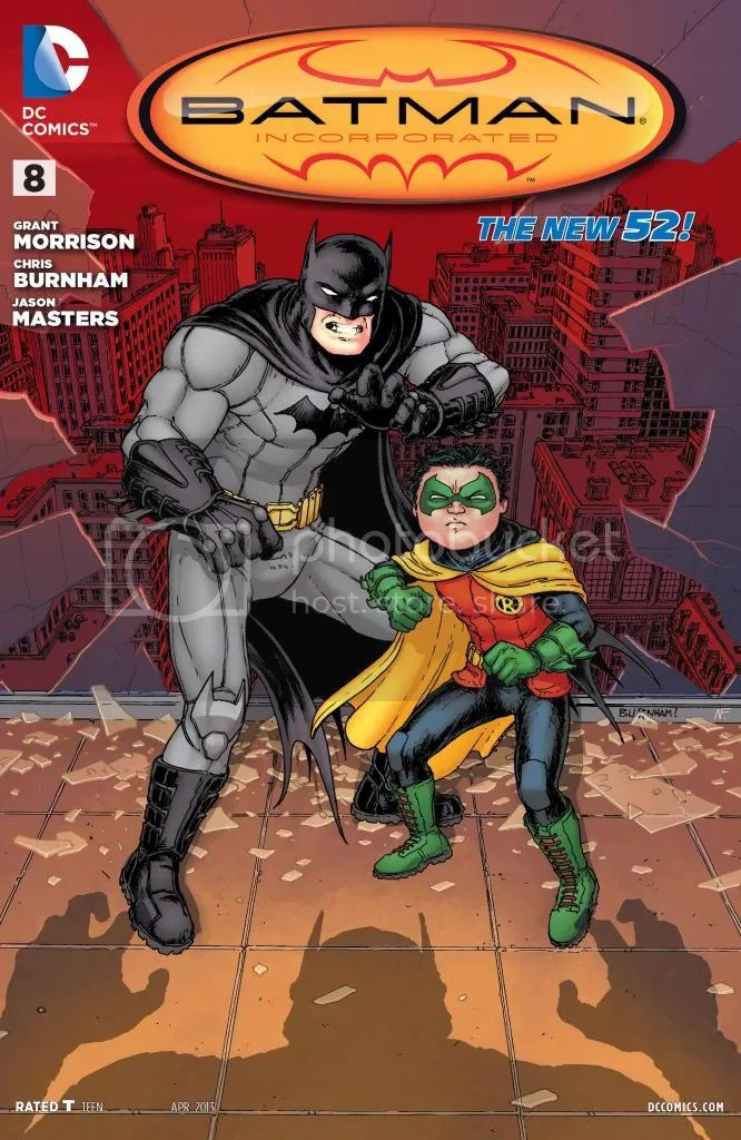 Portada del Batman Incorporated 8