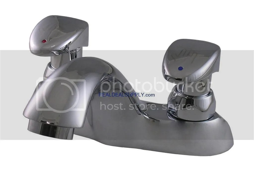 real deal supply delta 86t1153 commercial 86t two handle metering slow close lavatory faucet 448653
