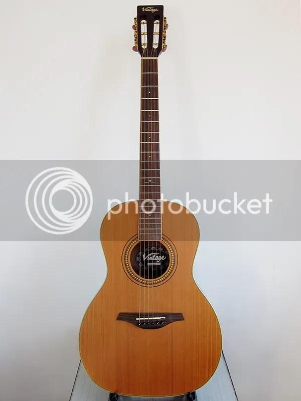 Vintage V880N Parlour acoustic
