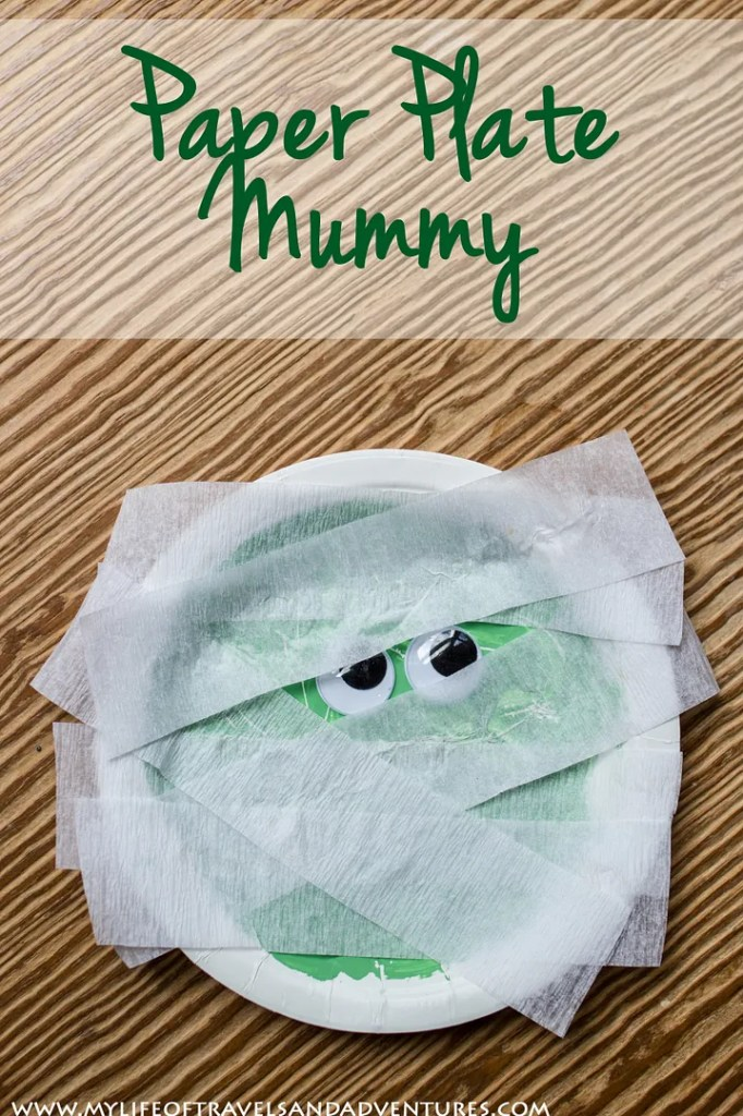 Paper Plate Mummy, by My Life of Travels and Adventures