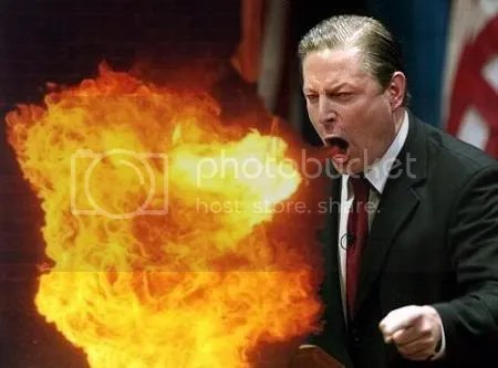 Al Gore, Spewer of Fire