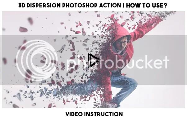 3D Dispersion Photoshop Action - 1