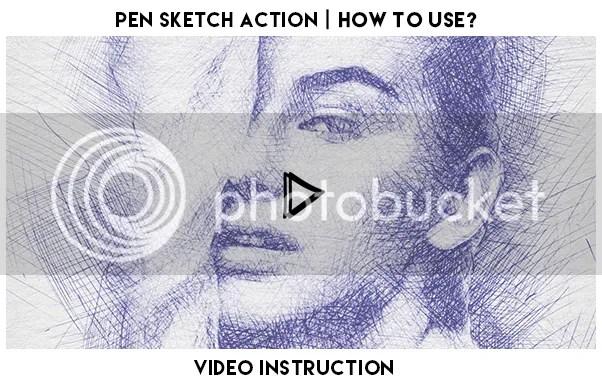 Pen Sketch Photoshop Action - 1