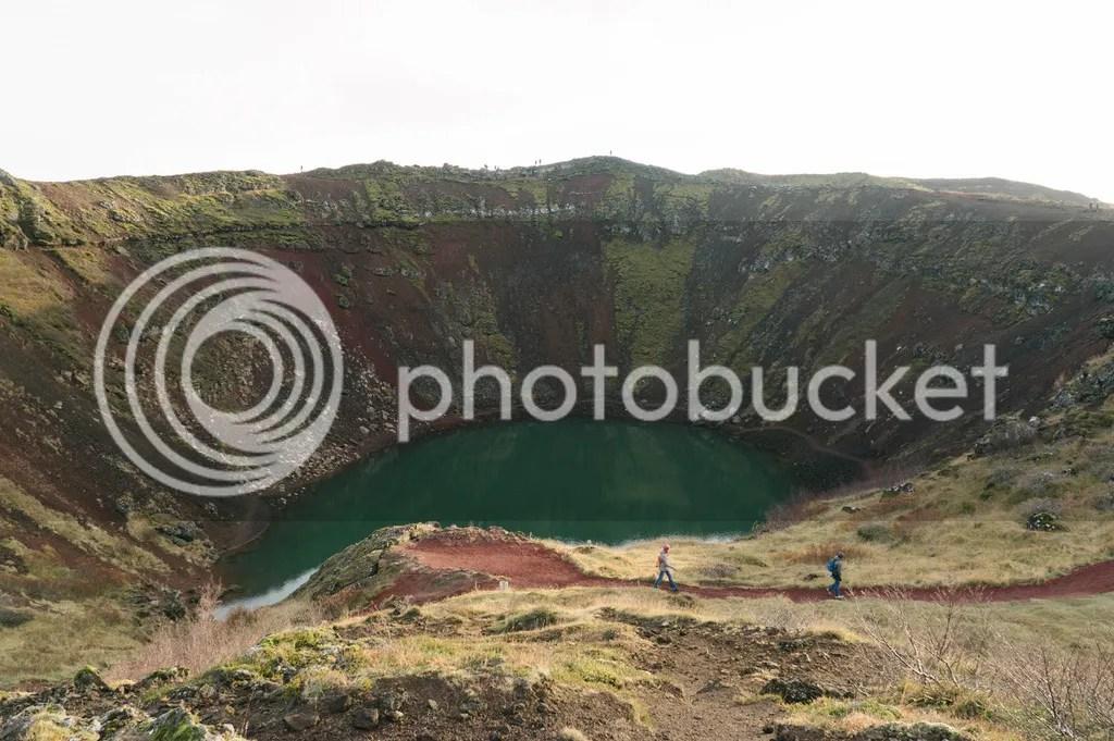 iceland ring road kerid crater lake