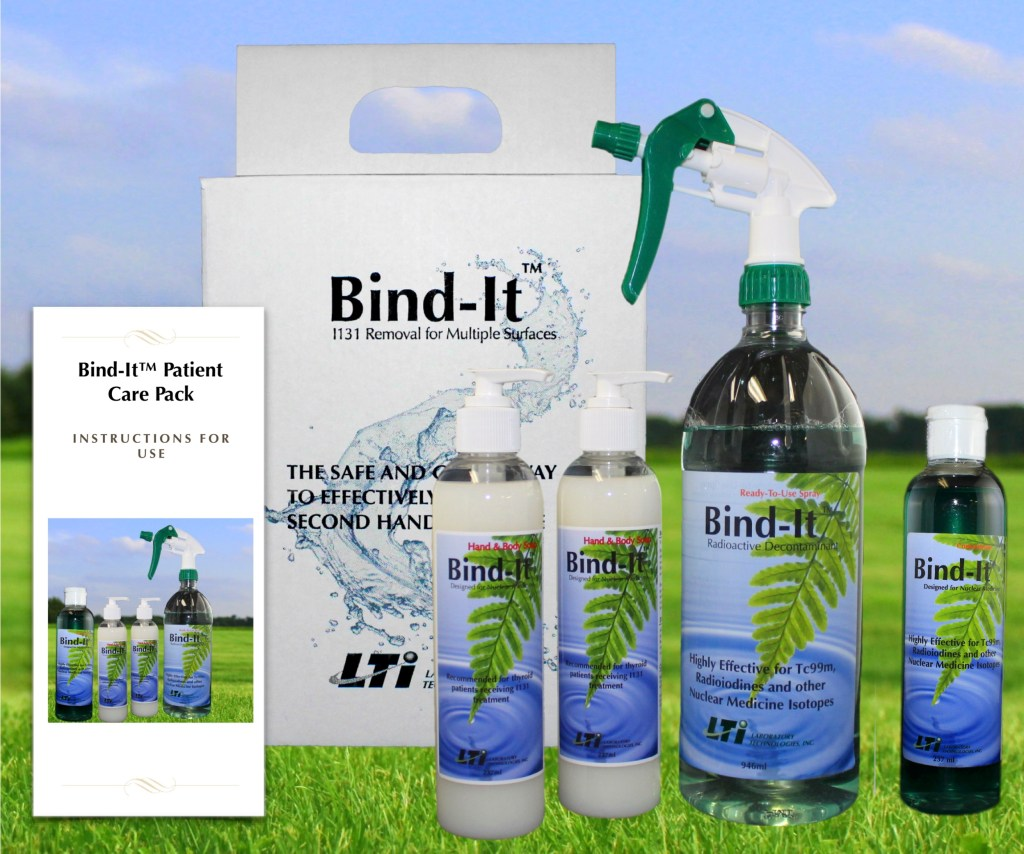 Bind-It radioactive Decontaminant