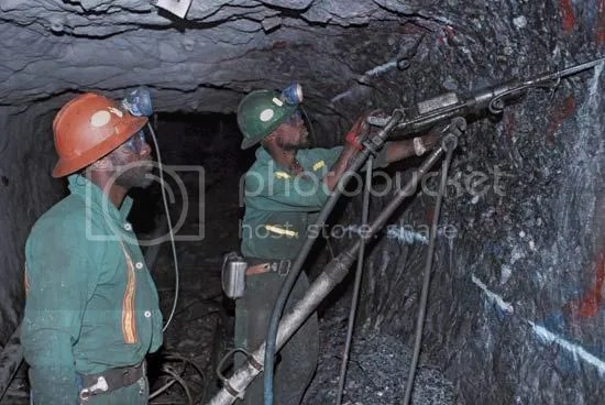 Underground South African Miners at Work