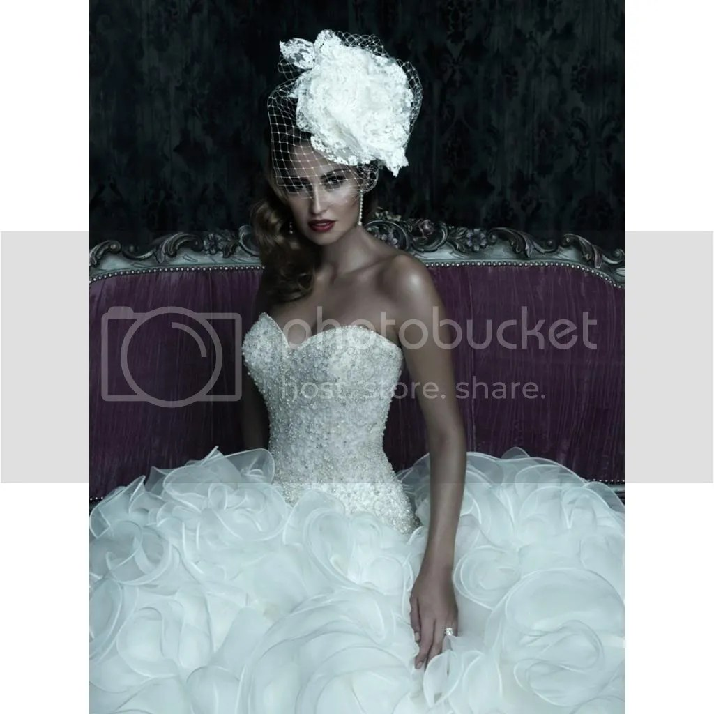 Spotlight Wedding Gown Dress Allure Couture C220 White