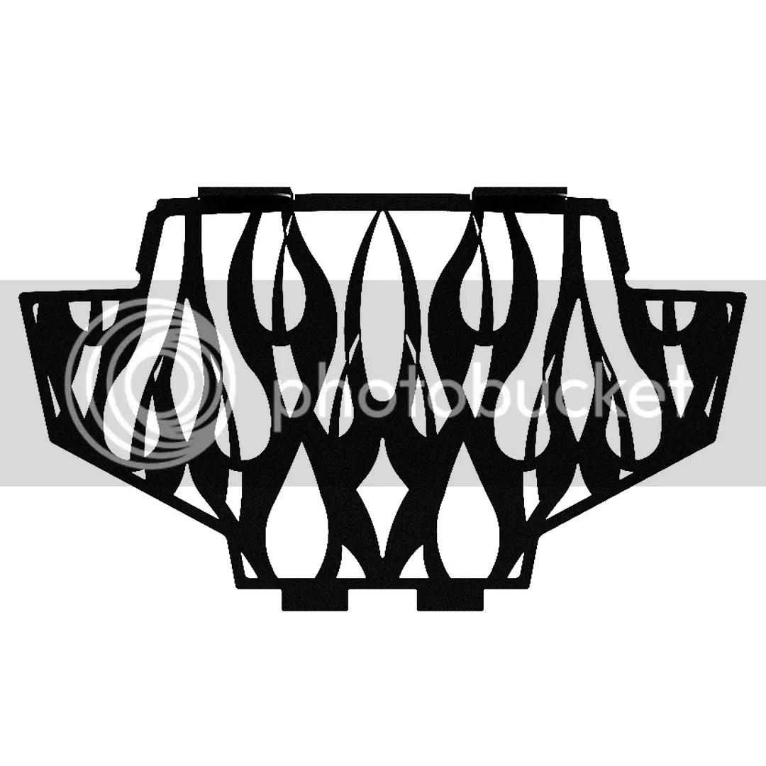 Fire Black Powdercoat Radiator Cover Grill Guard Fits 11