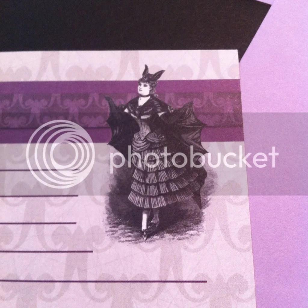 Madam Bat Letter Writing Stationary from La Papierre