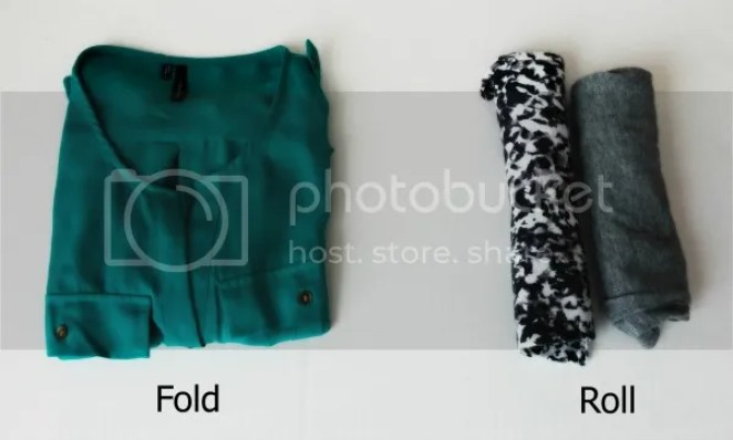 Image result for packing roll clothes
