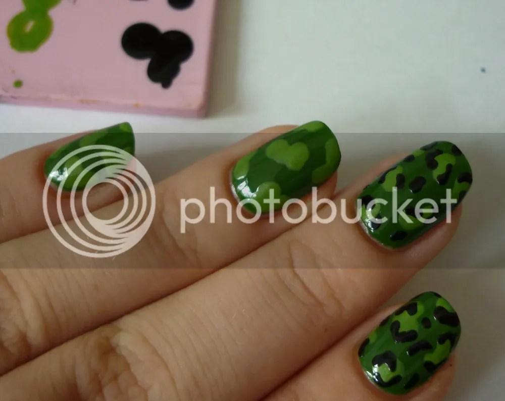 Nail Art Army Leopard Tutorial La Moon Nails