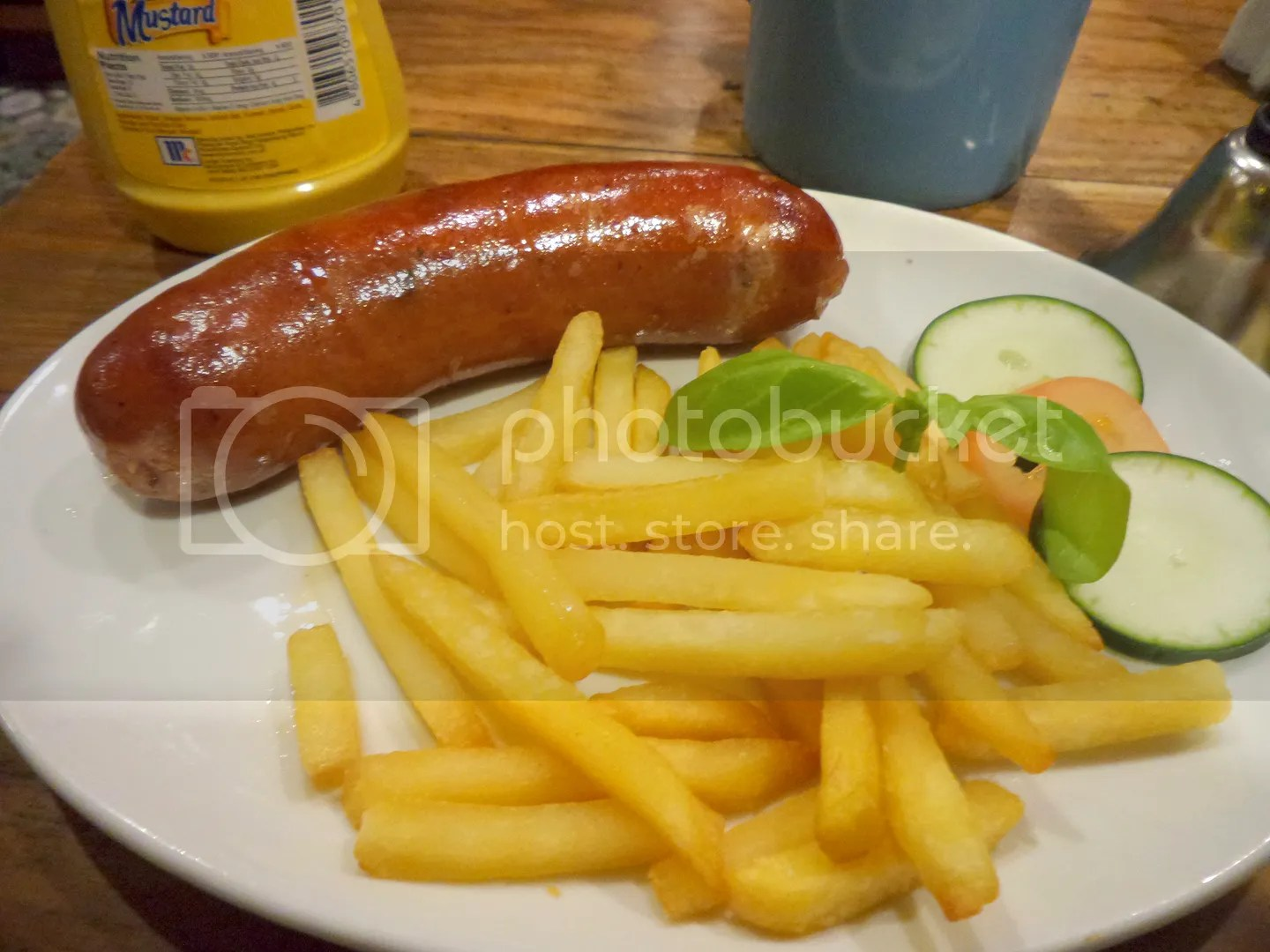 Hungarian Sausage - Choose from a selection of Hungarian, Ausburger and Schublig sausages served with a side of french fries.
