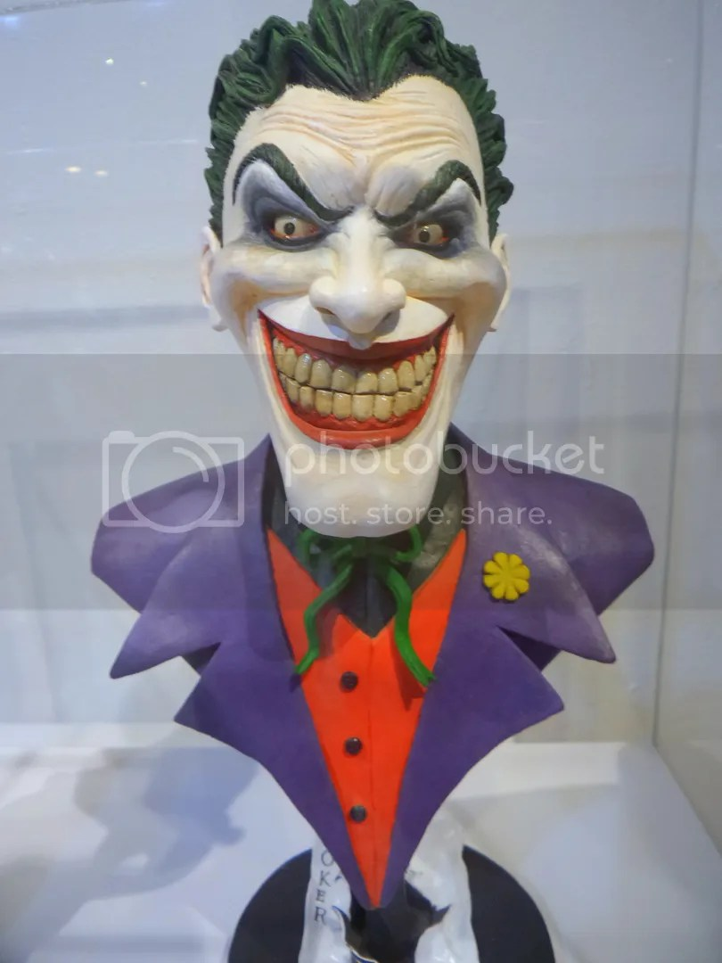 A bust of The Joker.