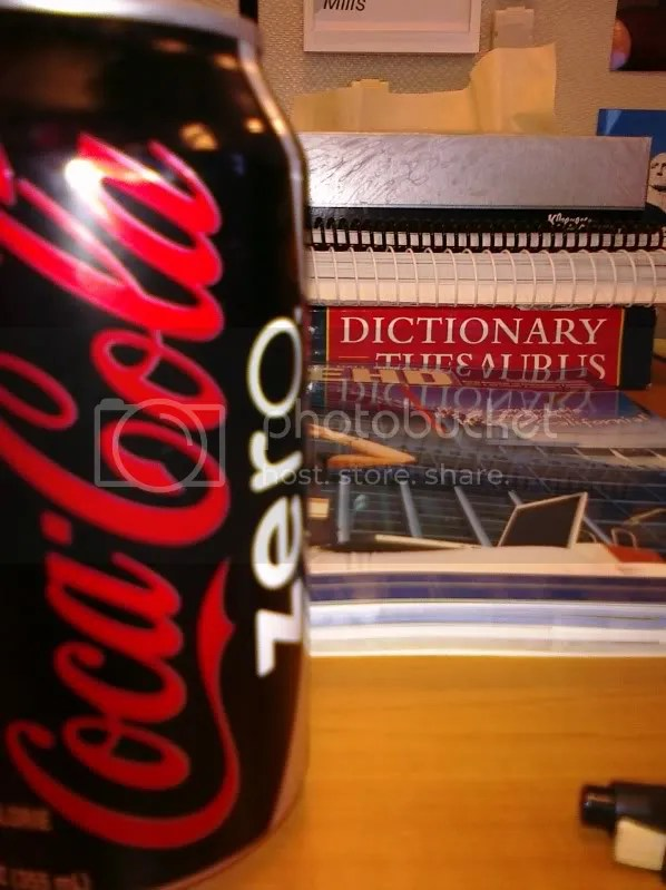 Yup. Caffeine in the form of Coke Zero, plus my reference guides