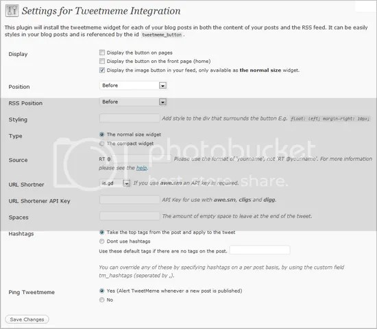 TweetMeme WP Plugin