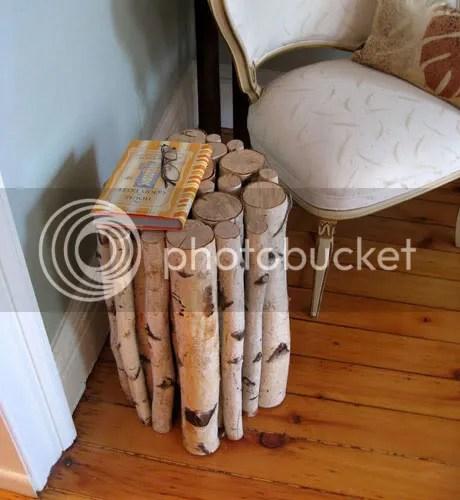 birch log stool