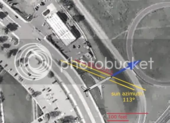 'Flight 77's' Shadow in Citgo video?   911Blogger.com