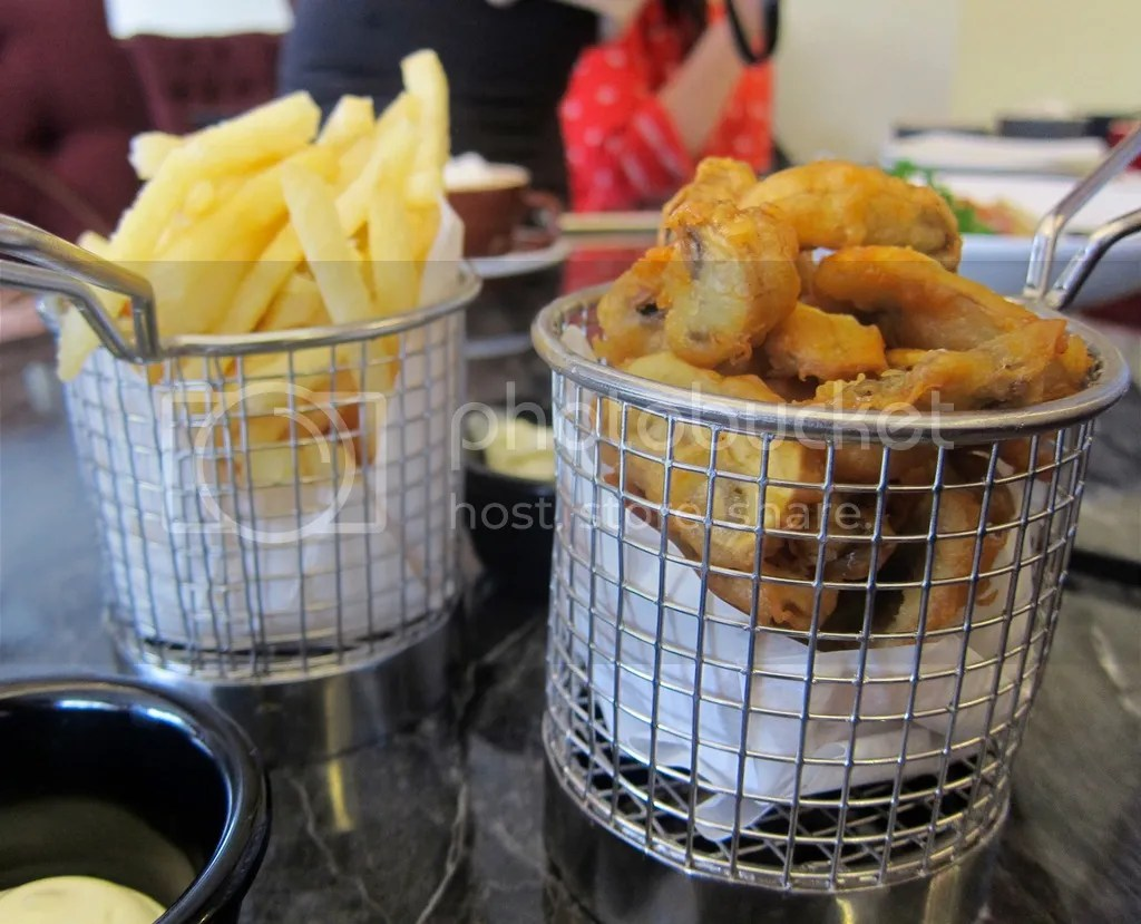 Atmosphere Cafe & Bistro Truffle Fries and Battered Mushrooms