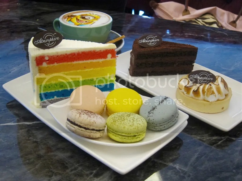 Atmosphere Cafe & Bistro Rainbow Cake & Chocolate Truffle Cake