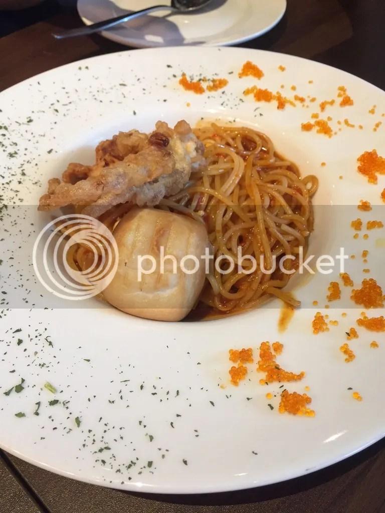 Froth Cafe Chilli Crab Spaghetti